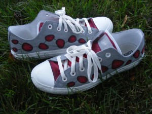 Hand-painted Converse by Sheri Roloff