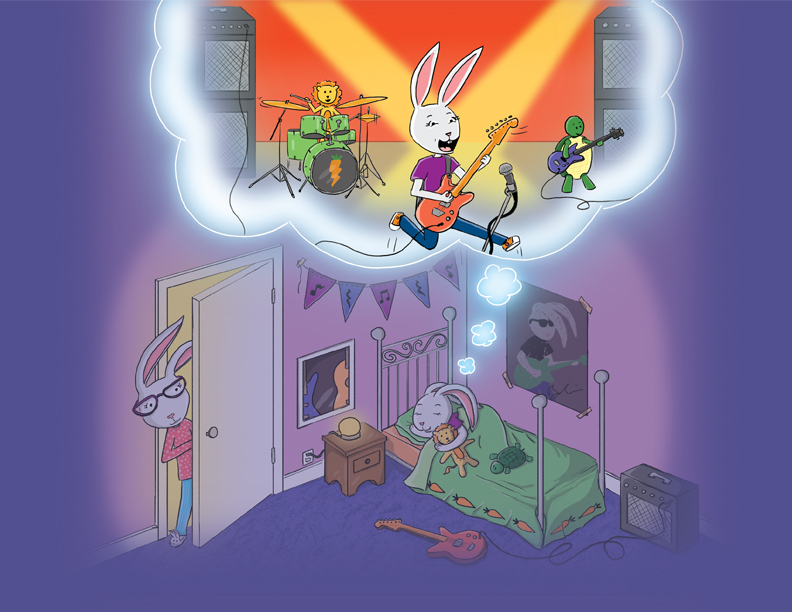 Rocker Bunny Dreams by Sheri Roloff