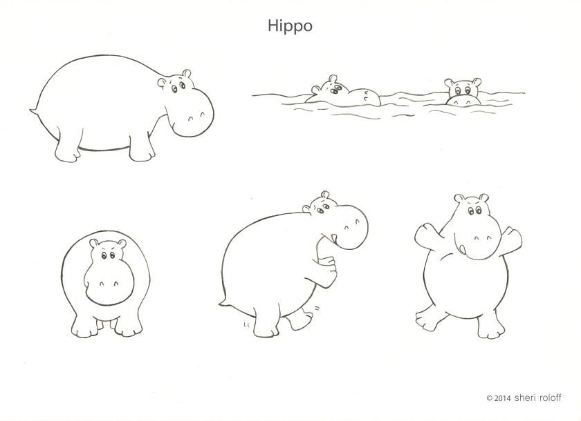 Hippo by Sheri Roloff