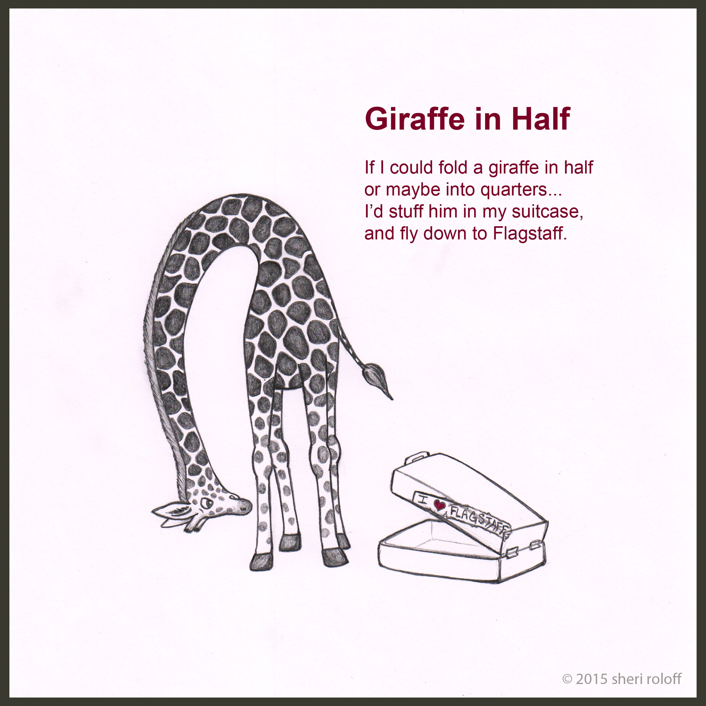 wacky wednesday post 1 giraffe in half sheri roloff