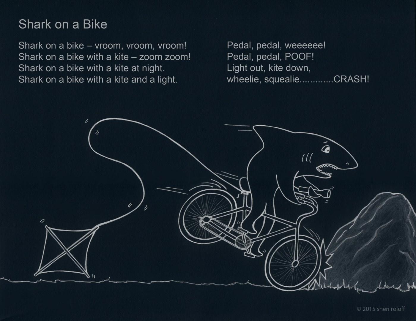 Wacky Wednesday Post 2 Shark On A Bike Sheri Roloff