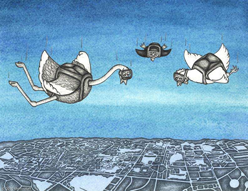 Flight of the Flightless Birds by Sheri Roloff