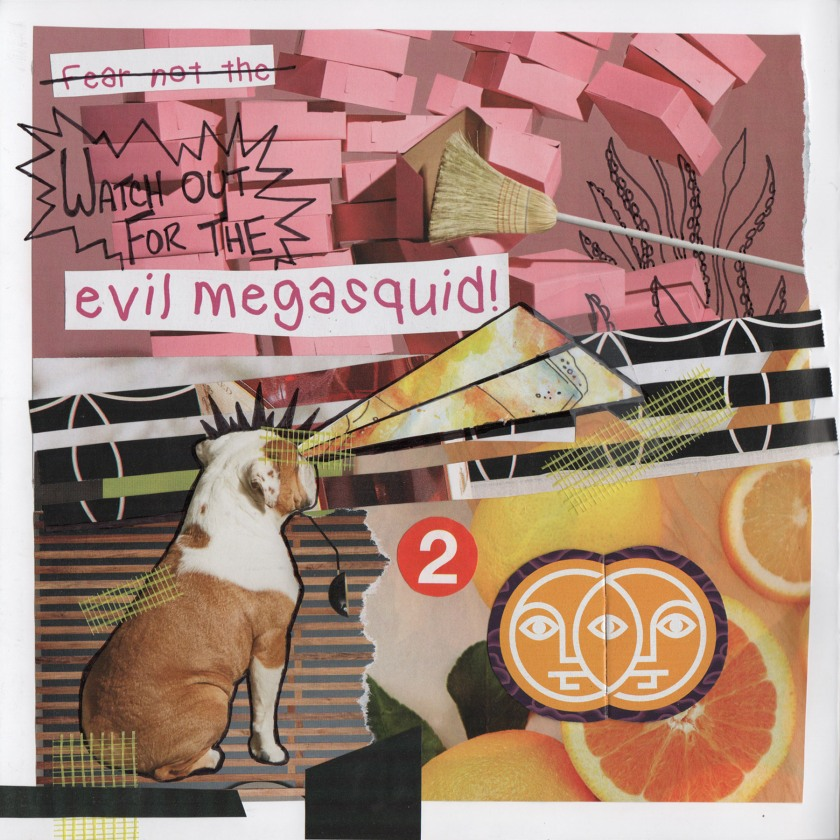 Evil Megasquid Collage by Sheri Roloff