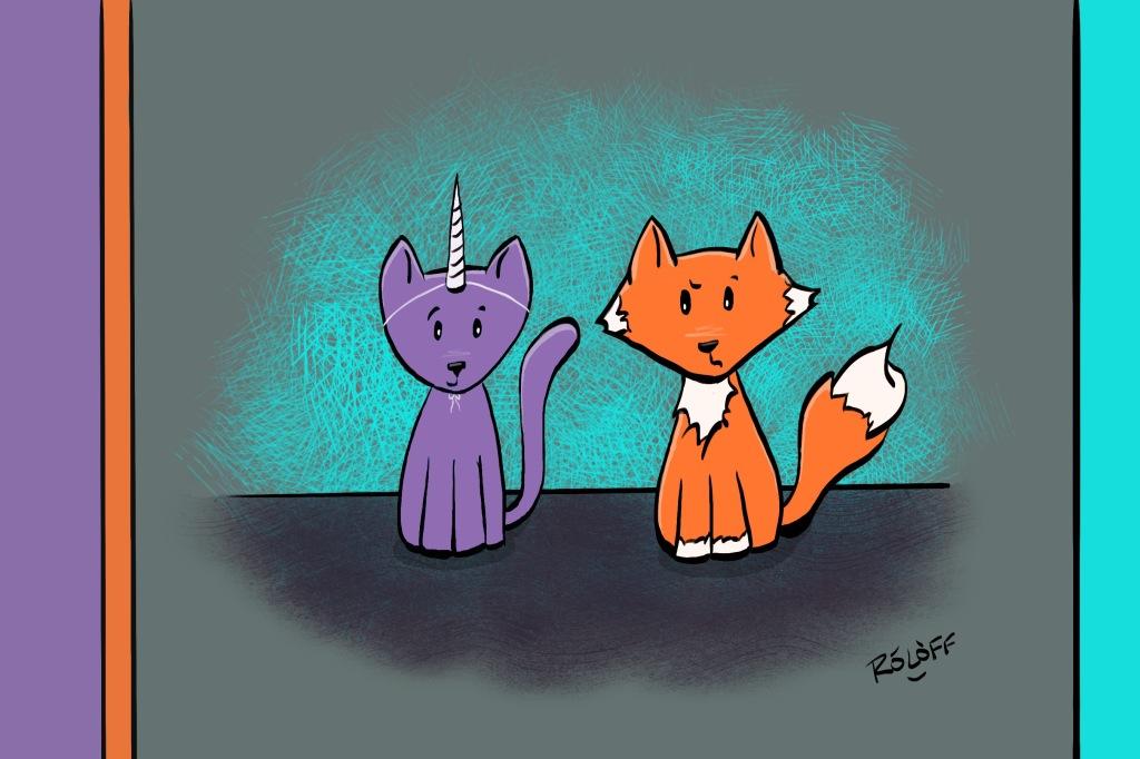 Fox & Caticorn by Sheri Roloff