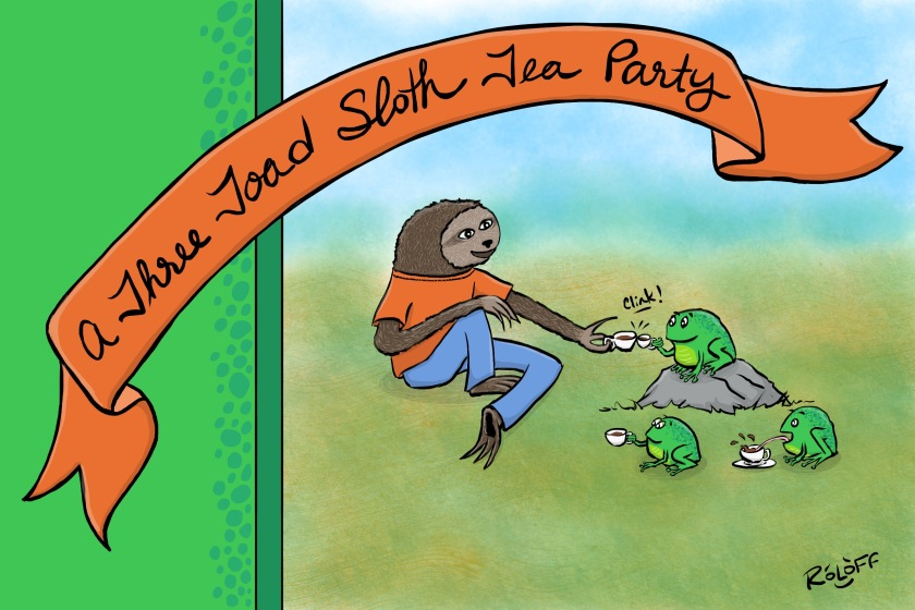 Three Toad Sloth by Sheri Roloff