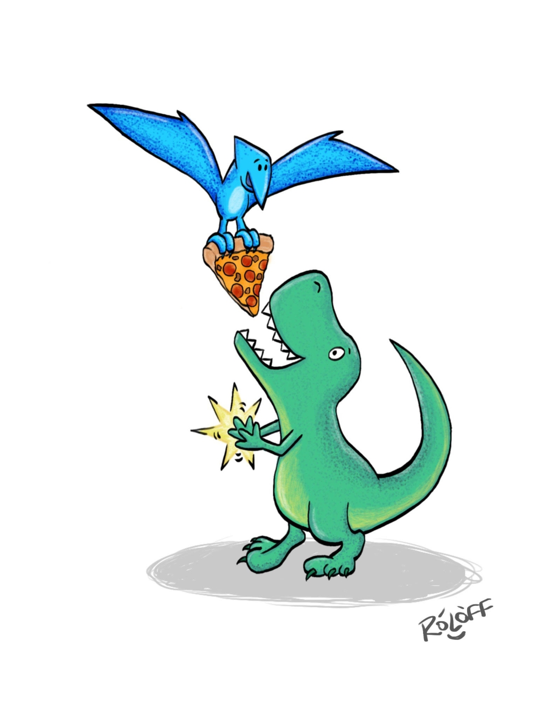 Dino Pizza Party by Sheri Roloff