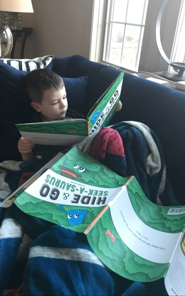 Daniel Reading Hide and Go Seek-A-Saurus